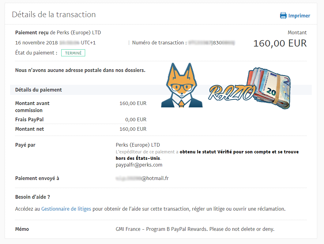 Global Test Market Latest Payment Proof